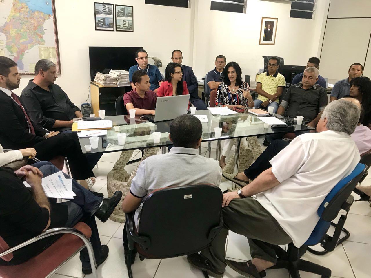 Reunião rodoviários e empresários