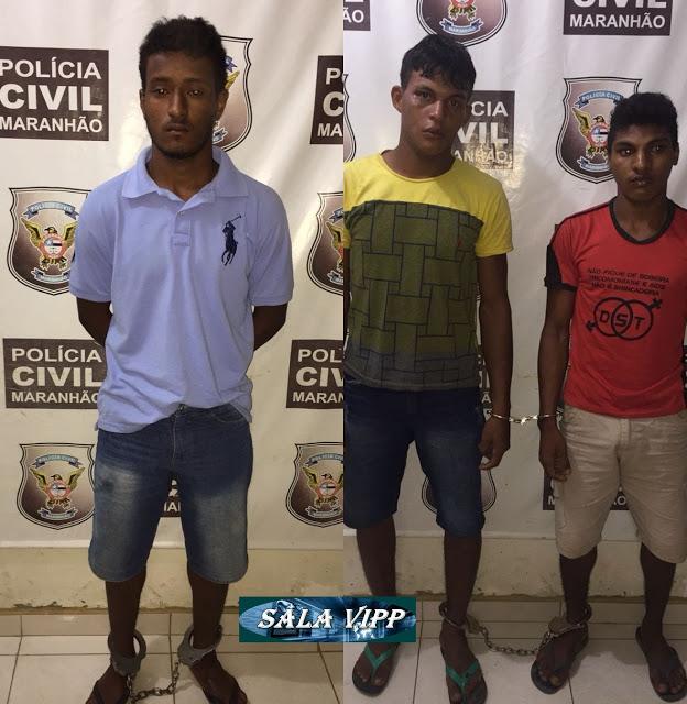 Trio é preso por latrocínio