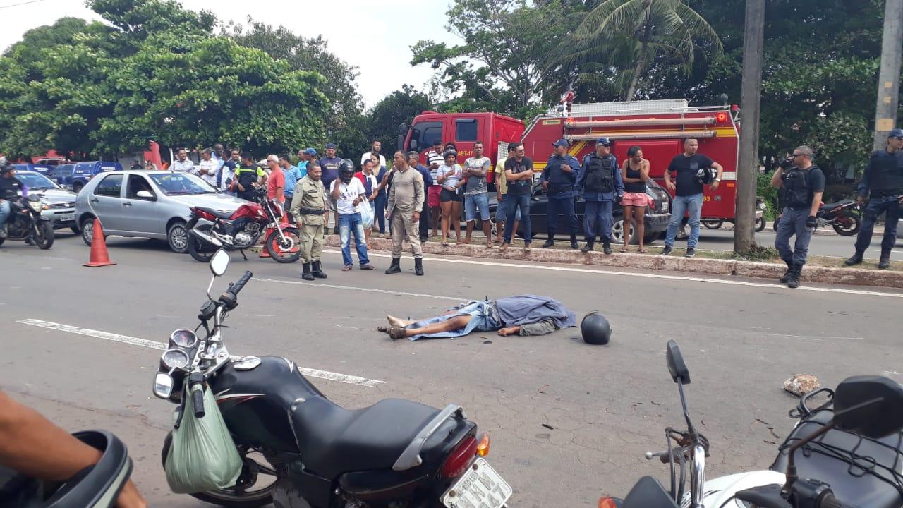 acidente de moto com policial