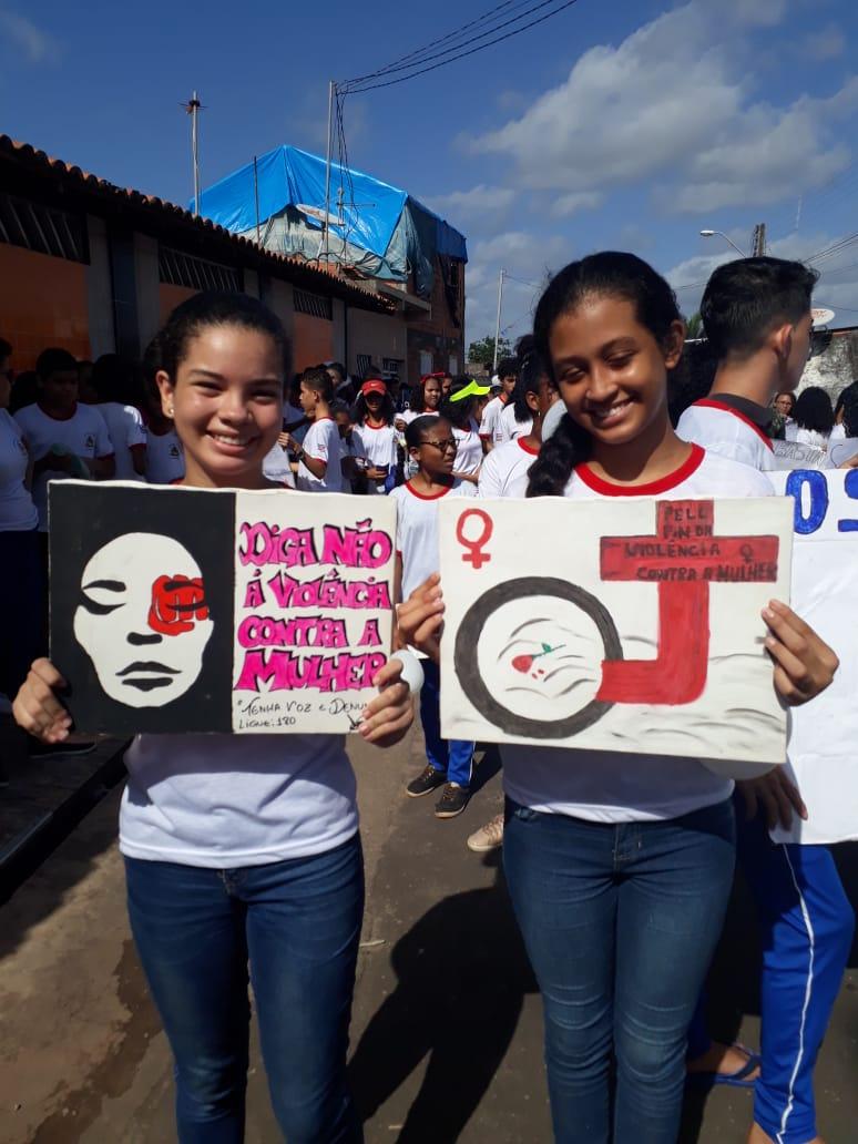 manifestação contra a violencia domestica