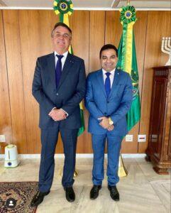 Bolsonaro convida Josimar Maranhãozinho para reunião no palácio do Planalto