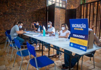 Servidores do Detran-MA estão sendo vacinados contra a Covid-19 (Foto: Divulgação)