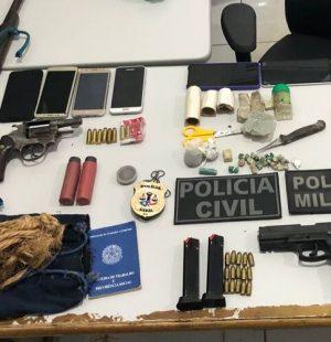 Armas e drogas são apreendidas em Santa Inês